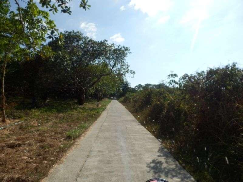 die 2,50 Meter breite Hauptstraße auf Koh Phayam