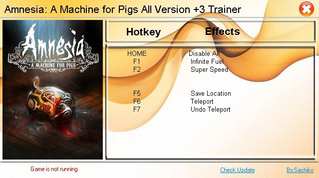 Amnesia: A Machine for Pigs (All Versions) +3 Trainer [3DMGAME]