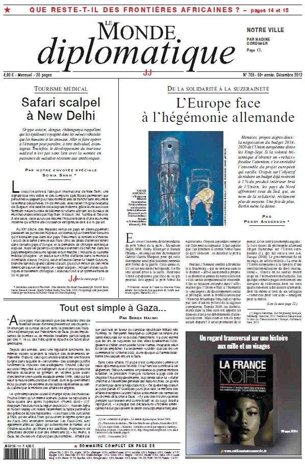 Le Monde Diplomatique Décembre 2012