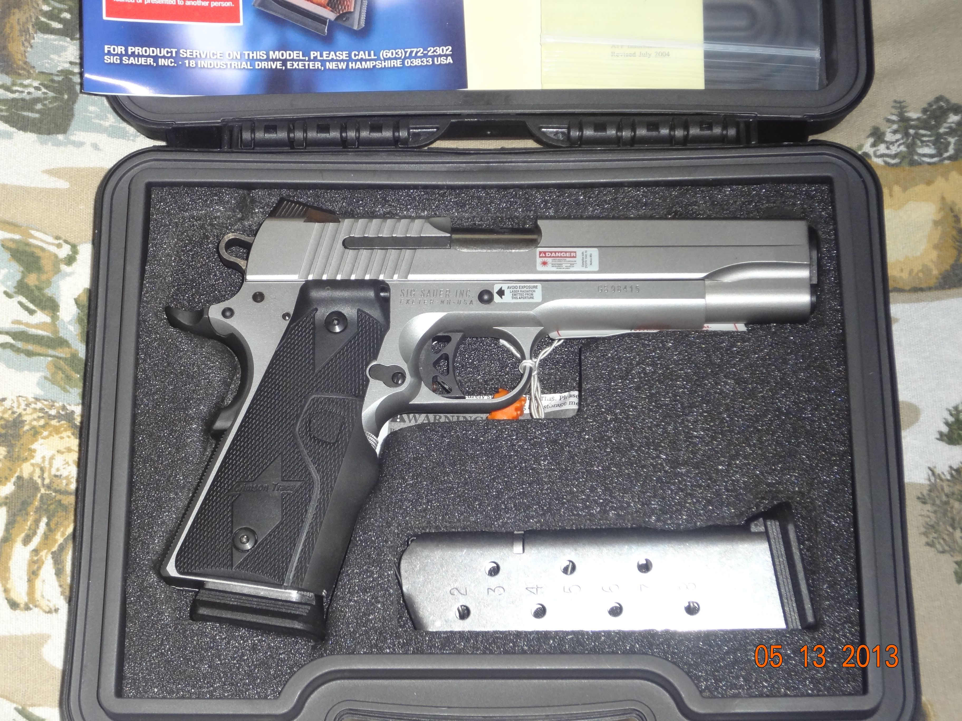 Sig Sauer 1911 Xo Stainless W Crimson Trace Laser Grips Archive